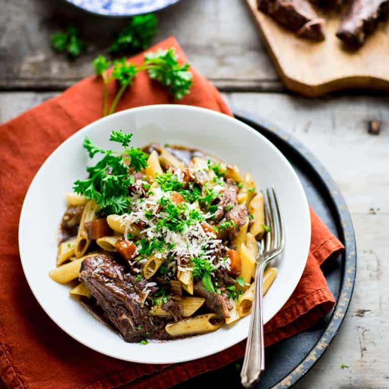 slow cooker beef with pasta and porcini mushrooms ...