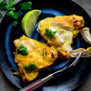 Yogurt Curry Chicken Thighs | Healthy Seasonal Recipes @healthyseasonal