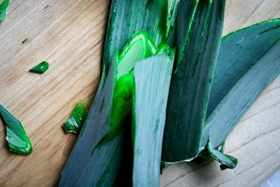How to Clean a leek