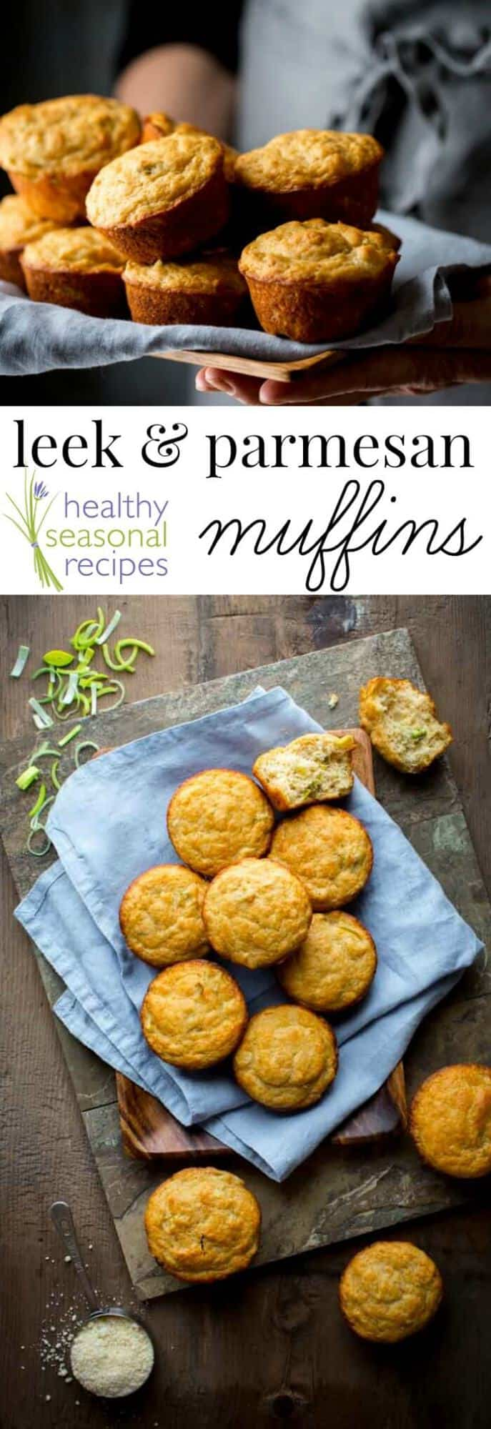 how to clean a leek and a recipe for leek and parmesan muffins ...
