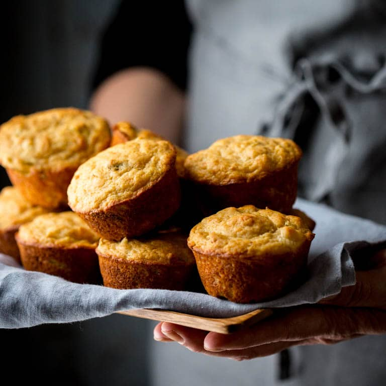 Leek and Parmesan Muffins