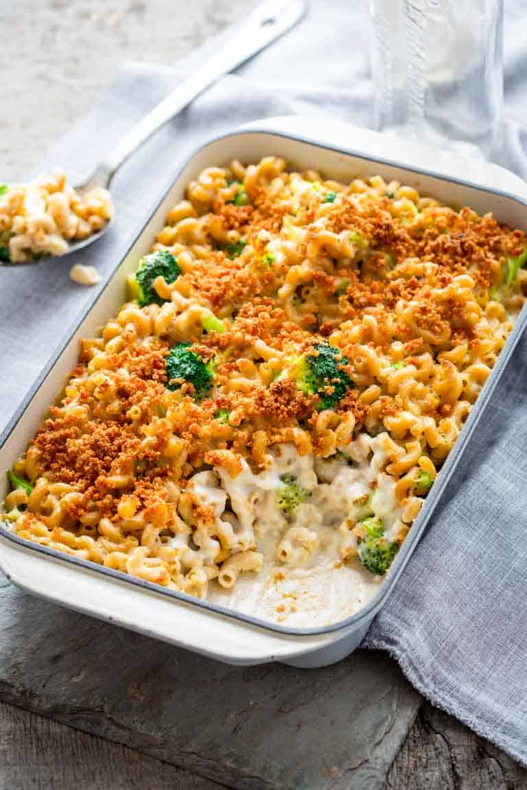 Macaroni and Cheese with Broccoli | Vegetarian | Whole Grain | Casserole | Kid Friendly | Comfort Food |Healthy Seasonal Recipes | Katie Webster