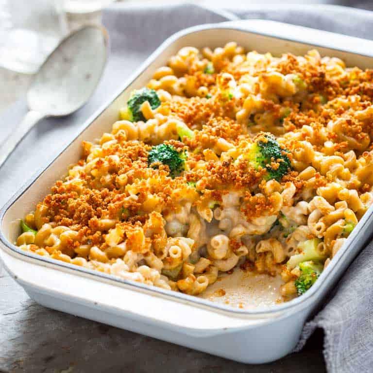 macaroni & cheese with broccoli