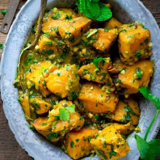 Sweet Potatoes with Coconut Curry and Mint by Katie Webster on Healthy Seasonal Recipes   vegan, paleo, whole 30, gluten-free