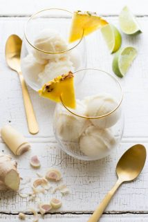 Just in time to help you survive this summer's heatwave meet my refreshingly delicious Pineapple Coconut Sorbet. Super bonus that it is #glutenfree, #lowfat, and #vegan too! | Healthy Seasonal Recipes