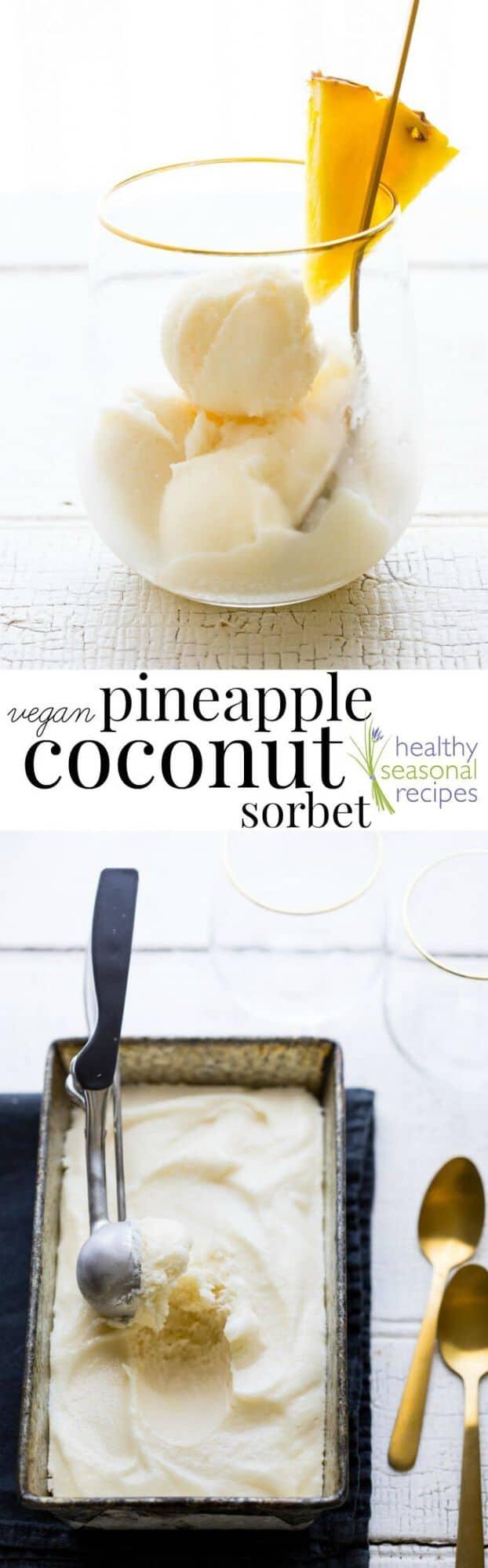 Coconut sorbet collage