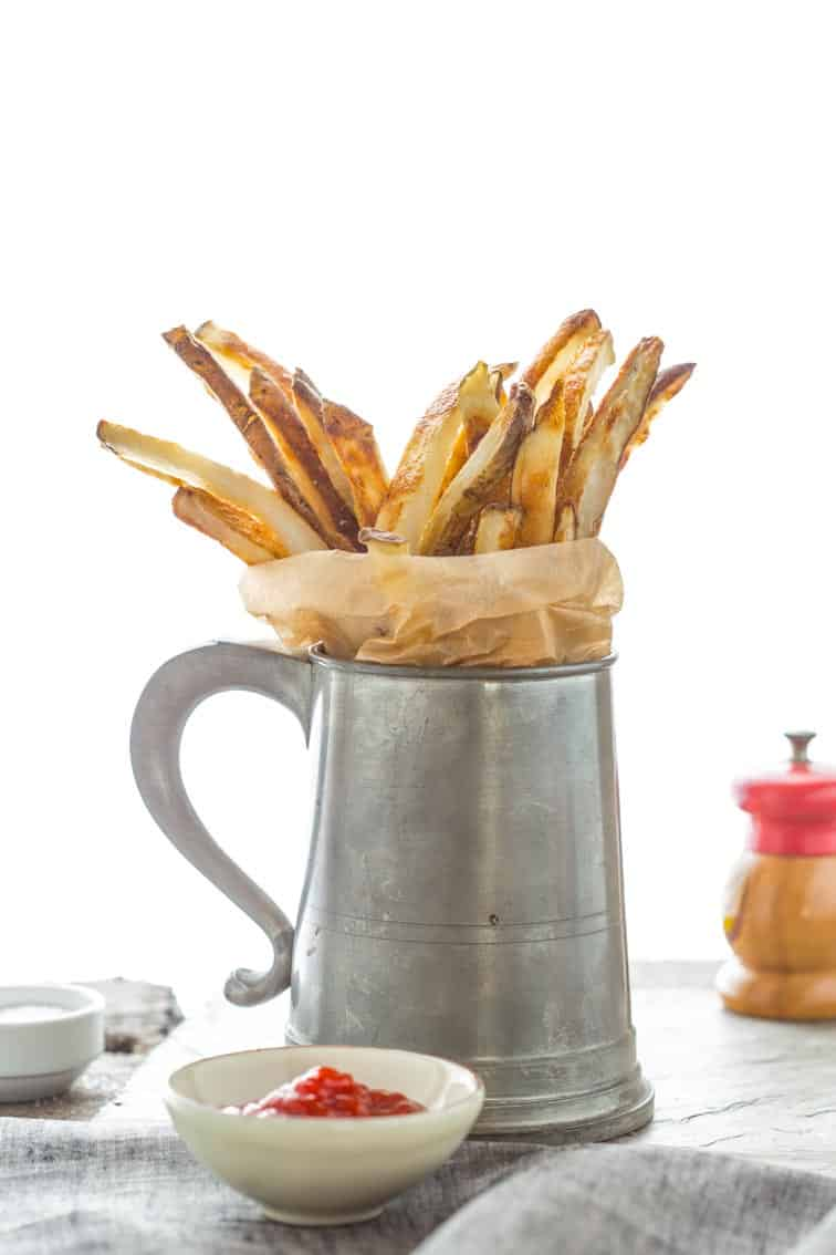 Skinny Oven Fries in a mug