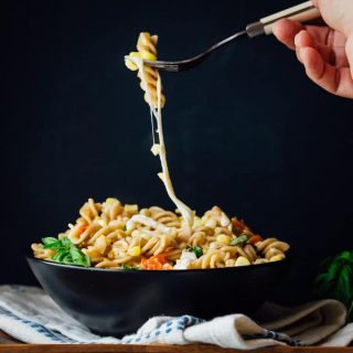 This Pasta with Corn and Smoked Mozzarella is inspired by my absolute love and devotion for sweet corn. It is the perfect vegetarian Summer entree that you can get on the table in just 30 minutes!   Healthy Seasonal Recipes   Katie Webster