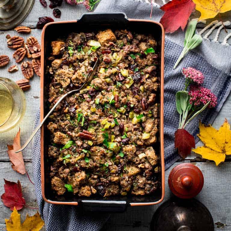 Cranberry Sausage Stuffing Healthy Seasonal Recipes