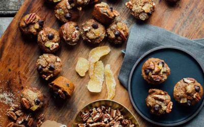 Mini Fruitcakes are the perfect tiny whole wheat and dairy free sweet treat to take to a cookie exchange or add to your Holiday cookie platter! | Healthy Seasonal Recipes | Katie Webster
