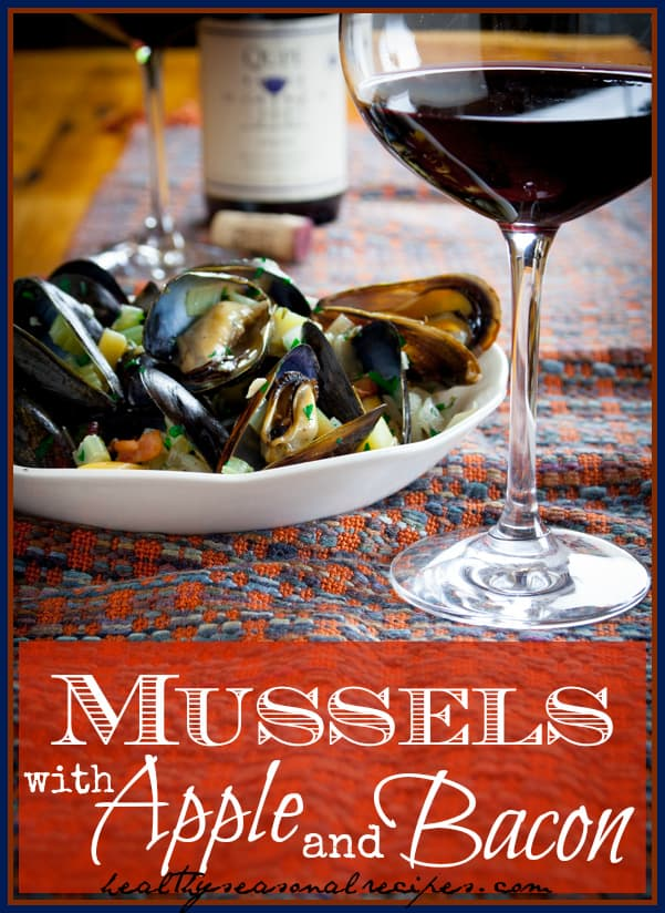 mussels with apple and bacon