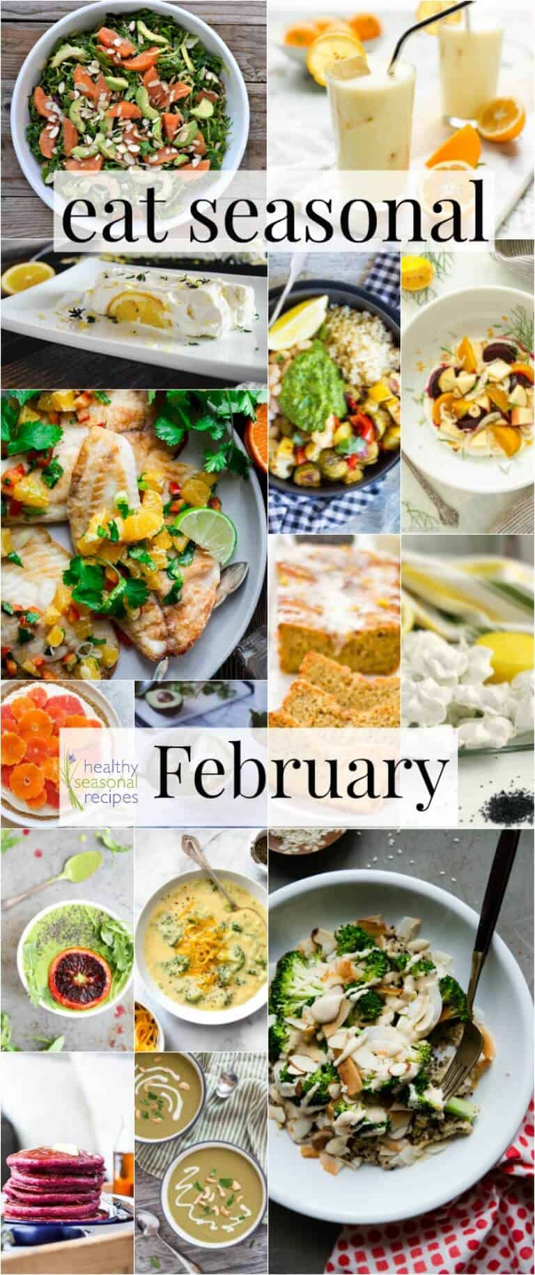 Recipes for eating in season for February | #EatSeasonal | Healthy Seasonal Recipes by Katie Webster
