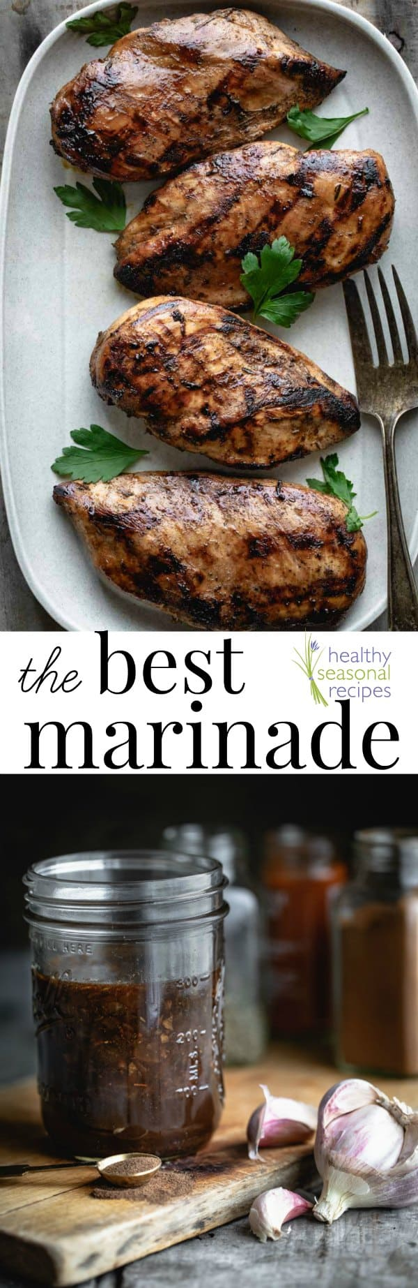 This is my very best chicken marinade of all time! You simply have to make it! This recipe, originally called Isabel's Island Chicken Marinade, is one I have made so many times over the years I could do it in my sleep. And many readers and friends have told me how much they love it. #chicken #marinde #bestmarinade #healthy
