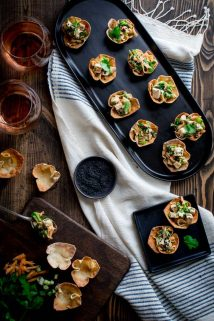 These Sesame Chicken Wonton Cups are the perfect sassy little appetizer that comes together in a snap and doesn't require a million ingredients! {Dairy Free} | Healthy Seasonal Recipes | Katie Webster