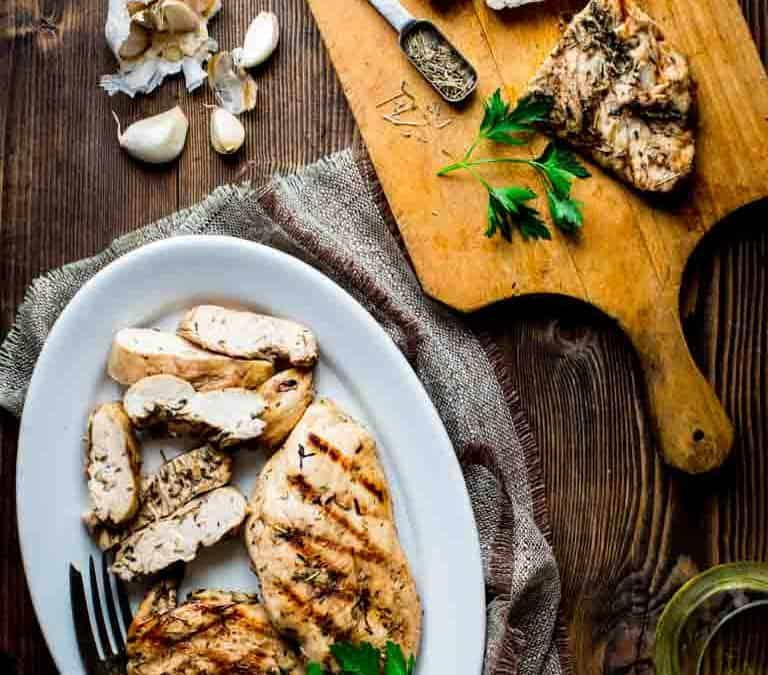 garlic herb marinated chicken