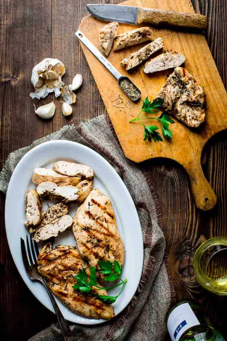 Garlic Herb Grilled Chicken on a plate