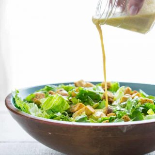 I'm here today to show you how to make simple egg-free caesar salad dressing that just also happens to be naturally gluten free and low carb! | Healthy Seasonal Recipes #saladdressing #glutenfree #eggfree #lowcarb
