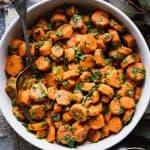 a close up of moroccan carrots
