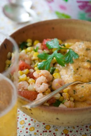 shrimp and corn grits