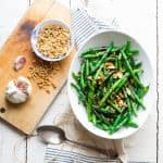 These Green Beans with Walnuts and Balsamic are one of my favorite vegetable side dishes of all times! Simple, quick, elegant and delicious. | Healthy Seasonal Recipes #glutenfree #vegan #dairyfree #vegetarian