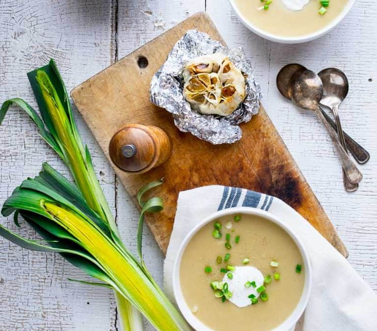 roasted garlic cheddar soup