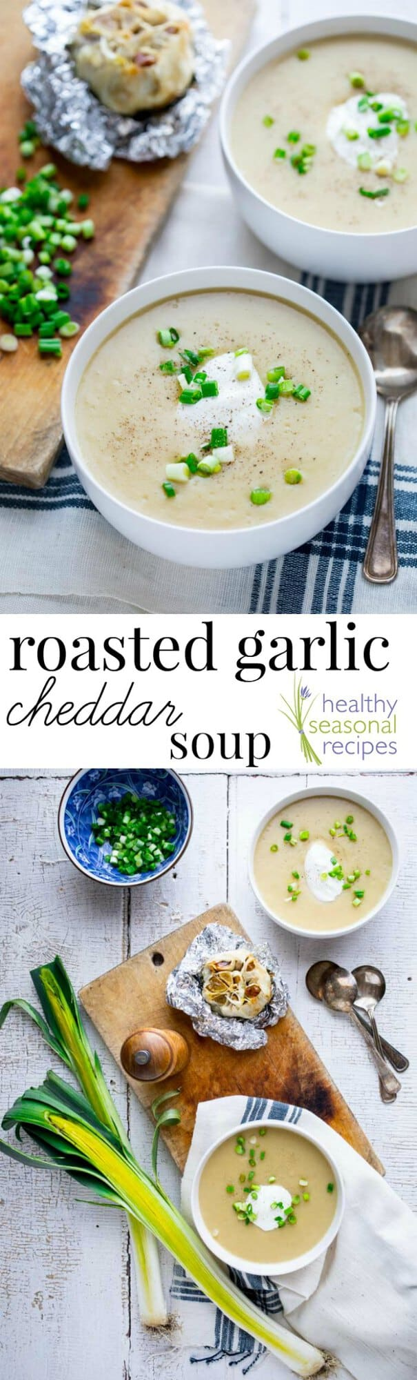 how to make roasted garlic cheddar
