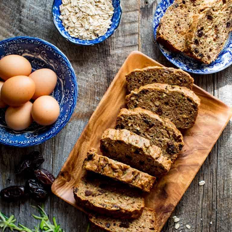 healthy zucchini oat bread