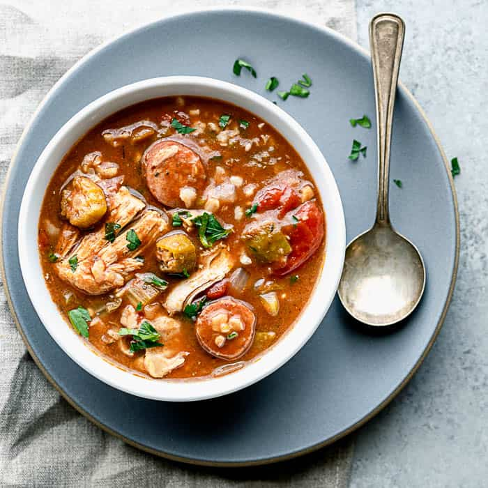 slow cooker gumbo with chicken