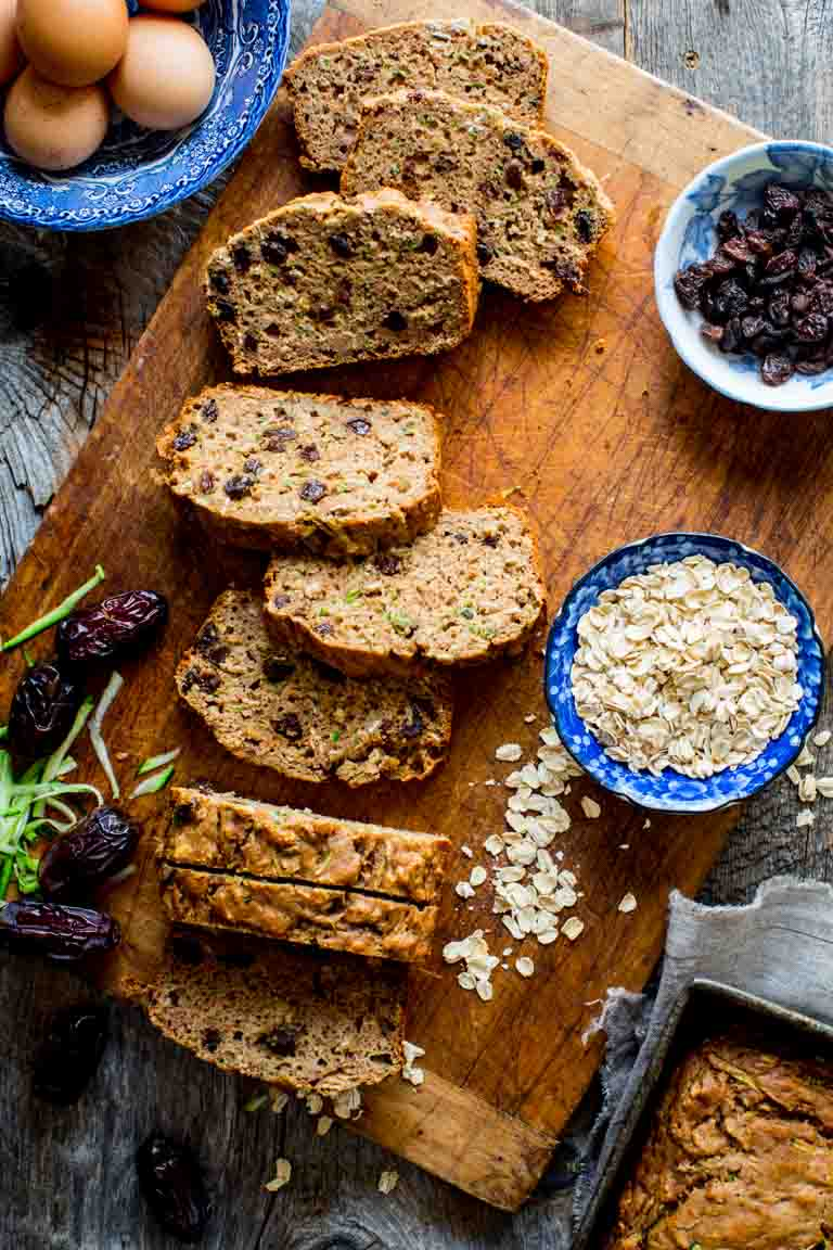 ca48a1173 This Healthy Zucchini Oat Bread is packed with zucchini and sweetened with  dates instead of sugar