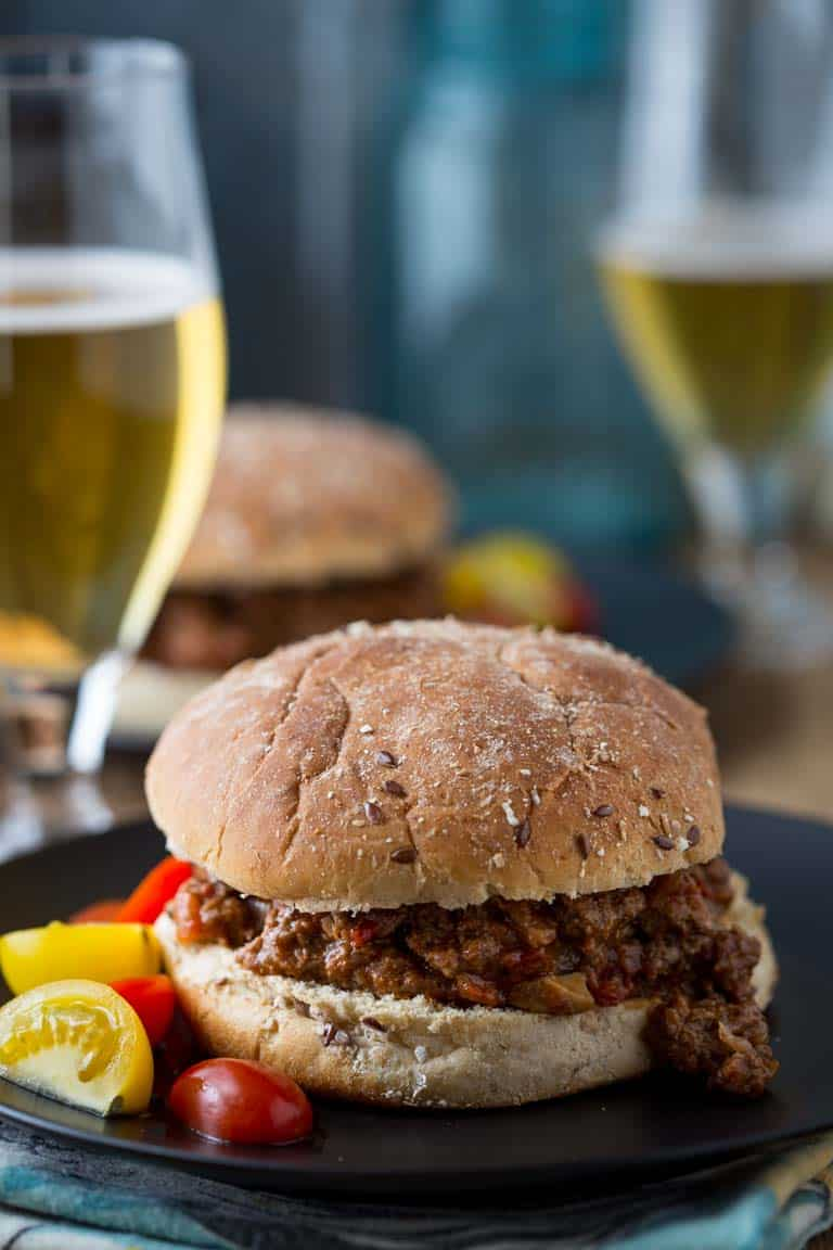 Healthy Sloppy Joes | Comfort Food Makeover | Beef | Mushrooms | Main Course | Dinner | Healthy Seasonal Recipes | Katie Webster
