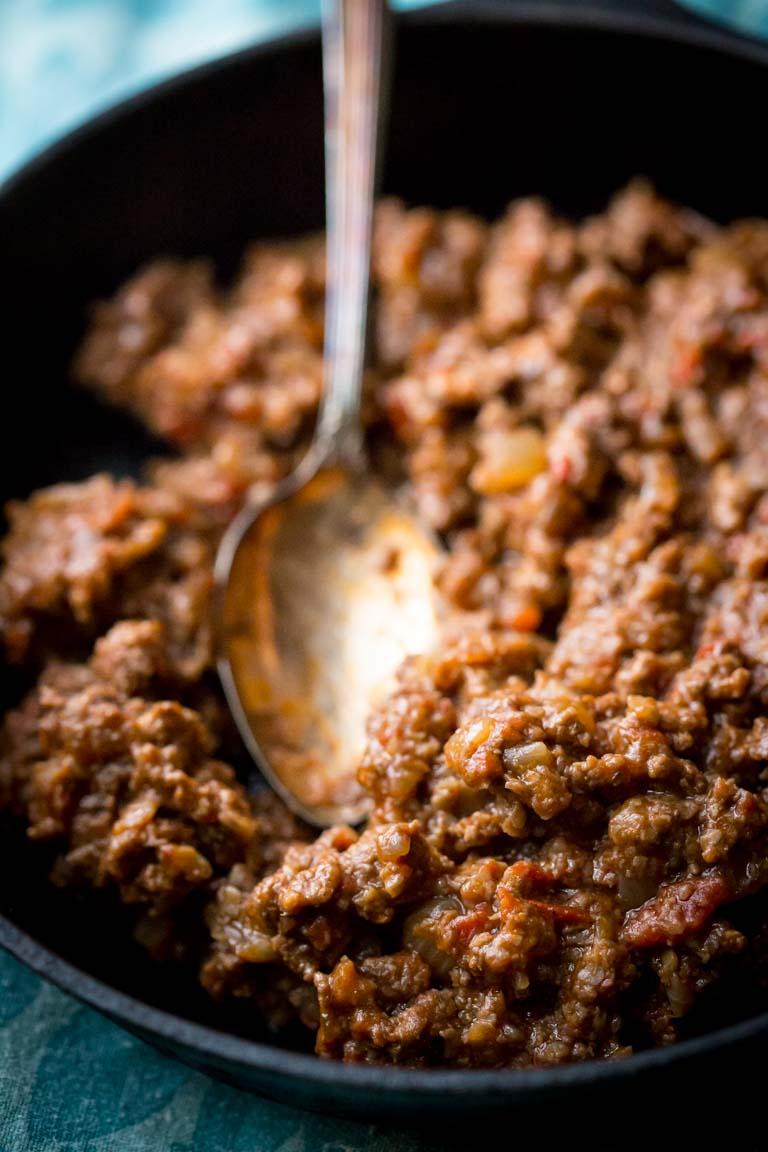 Healthy Sloppy Joes   Comfort Food Makeover   Beef   Mushrooms   Main Course   Dinner   Healthy Seasonal Recipes   Katie Webster