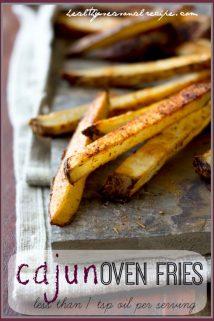 cajun-oven-fries less than one teaspoon oil per serving | Healthy Seasonal Recipes @healthyseasonal
