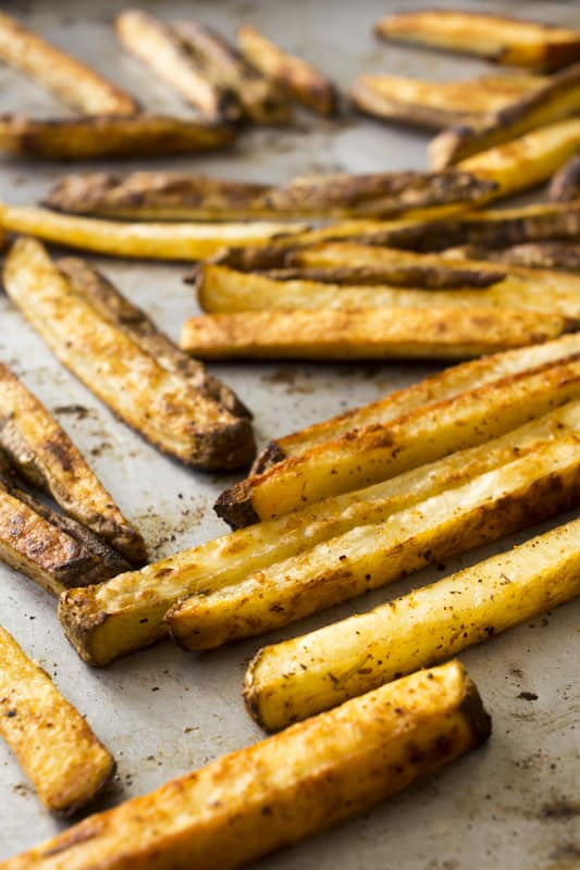 cajun-oven-fries less than one teaspoon oil per serving | Healthy Seasonal Recipes @healthyseasonal