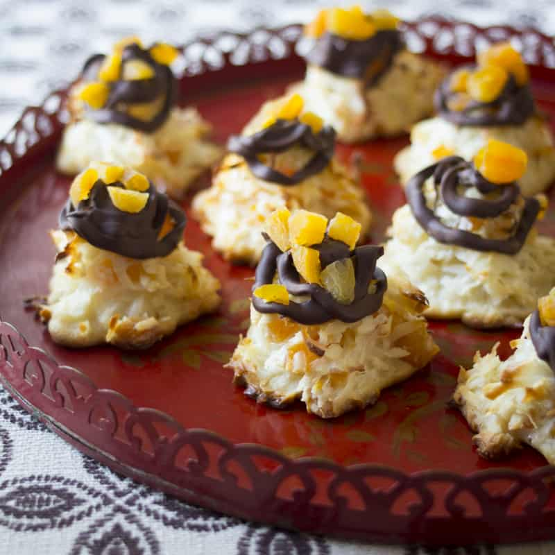 apricot-studded outrageous macaroons