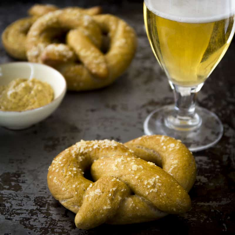 whole-wheat pretzels