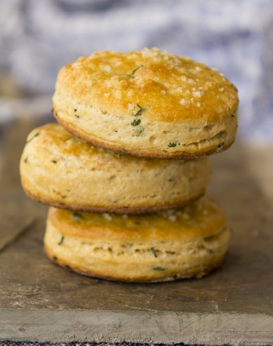 whole-wheat chive biscuits