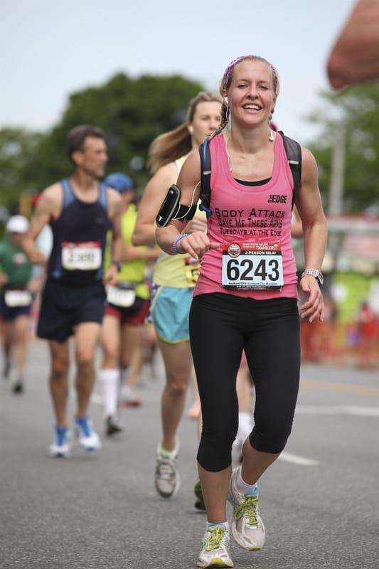 katie running a half marathon