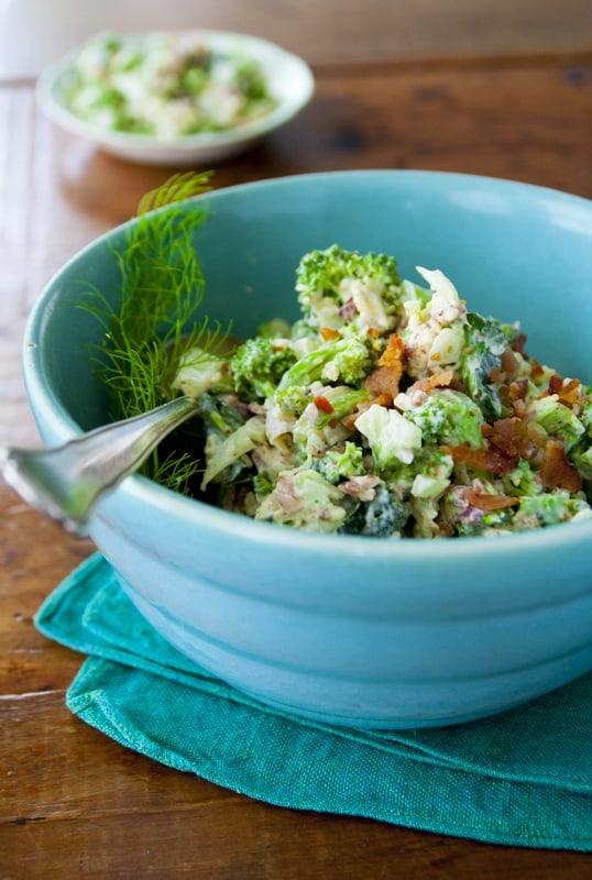 Broccoli Salad with Cheddar and Bacon