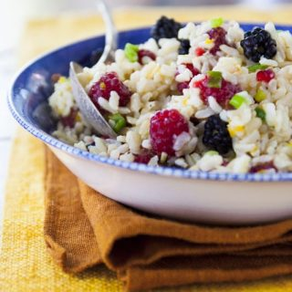 Brown Rice Salad with Berries
