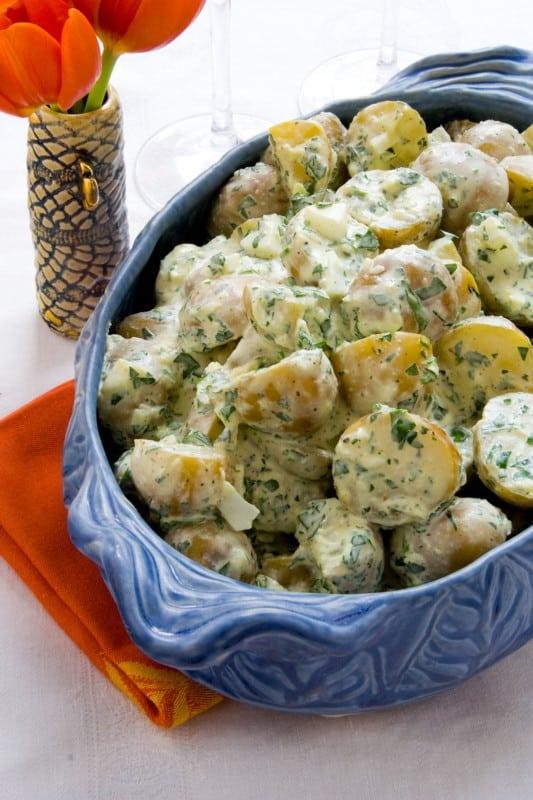 creamy horseradish potoato salad