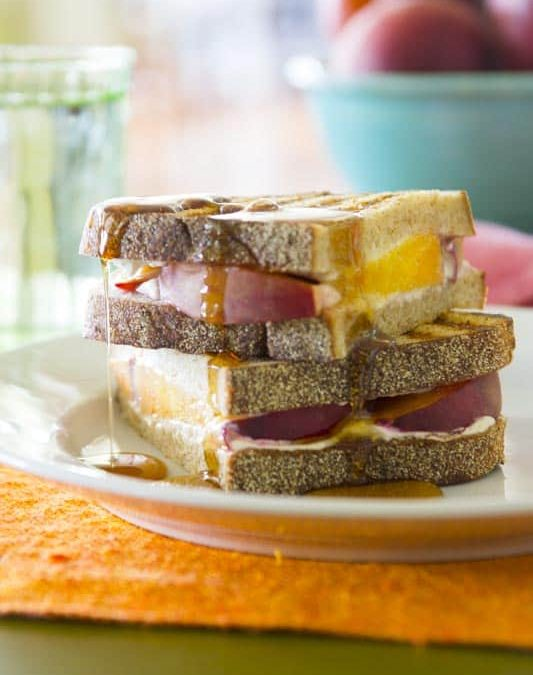 peach and goat cheese panini and giveaway