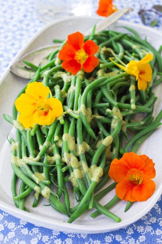 Green Beans with Basil Vinaigrette
