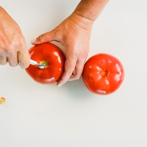 remove core from tomatoes