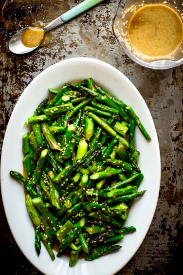 Sesame Roasted Asparagus Salad