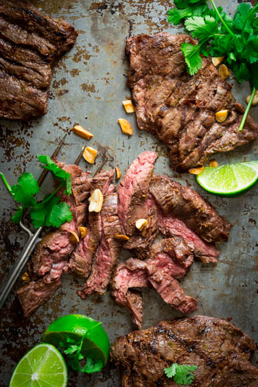 Grilled Thai Coconut Lime Skirt Steak | Healthy Seasonal Recipes