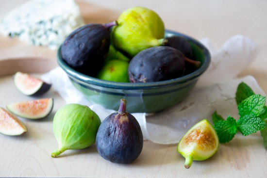 fresh figs for fig, honey and blue cheese mini tarts | Healthy Seasonal Recipes