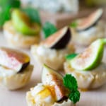 Fig Honey and Blue Cheese Mini Tarts | Healthy Seasonal Recipes