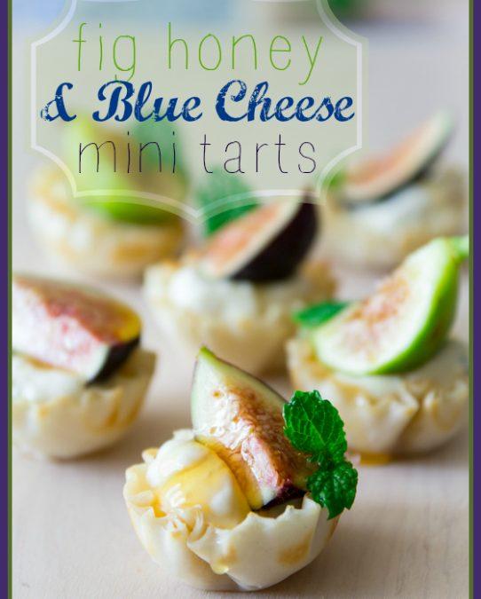 fig honey and blue cheese mini tarts