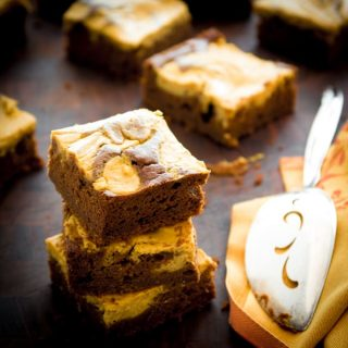 Pumpkin Pie Brownies | Healthy Seasonal Recipes @helthyseasonal