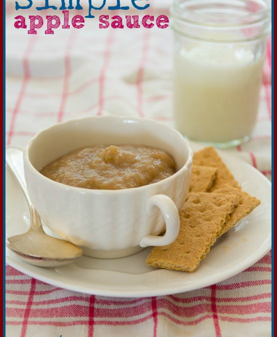 simple home-made applesauce